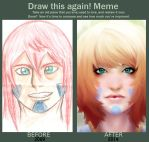 Before And After Face of hero by kronoshooko