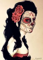 sugar skull by VelenoRosso9