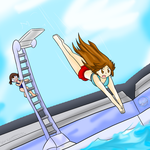 Leaf's High Dive ~Commission~ by Xero-J