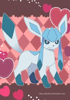 Glaceon Poster by Crystal-Ribbon