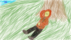 Me under a tree. by uhnevermind