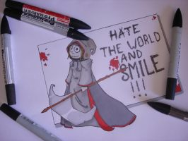 Hate the world and smile by Cey-J