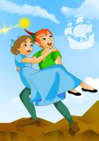 Peter Pan and Wendy by Sheerisan