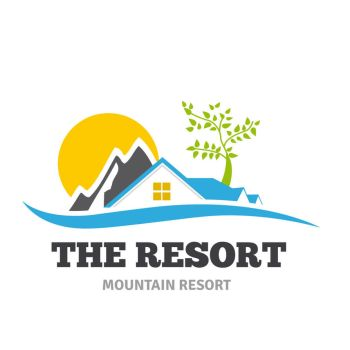 The Resort mountain resort logo by ozgurdk