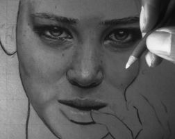 Jennifer Lawrence (Stage 2) by DreamshoreArt