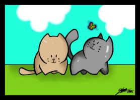 Kittens- Line art- colored by Sarah3ddepp