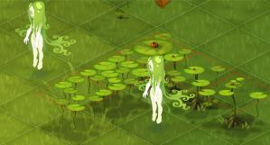 wakfu MMO: Flying lily by Sevpoolay