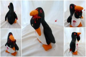 Zombie Penguin by IckyDog