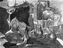 Charcoal Still Life by lu40953