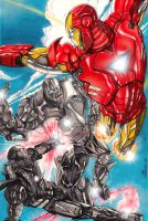 Iron Man and War Machine by MarcFerreira