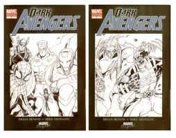 DarkAvengers1 CoverArt 2 and 3 by TheBoo