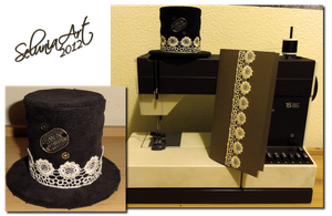 Artcrossing Gift - Tiny Steampunk Hat by Selunia