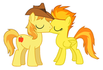 Braeburn and Spitfire Kiss by 3D4D