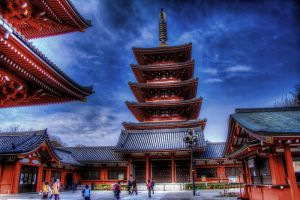 Inside the grounds of Sensoji Temple 2 by efcooper