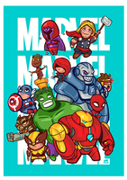 Marvel Characters Tribute by 2MindsStudio