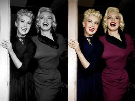 Betty Grable and Marilyn Monroe by bluishcanti