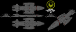 Colonial Valkyrie type Battlestar (rollbar) by Chiletrek
