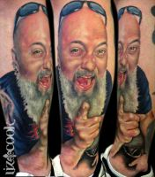 Mike Kelly Tattoo Portrait by LizCookTattoo