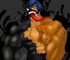 RAY AND THE SYMBIOTE!!!!!! by Somdude424