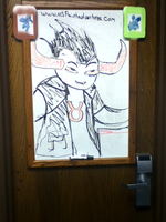 Ika_Tavros On my door by Ikaeru