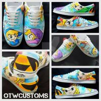 Zelda Four Swords Custom Vans by VeryBadThing