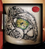 Bio Reptile Eye Tattoo by loop1974