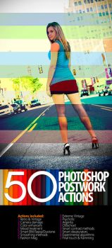 50 Photoshop Postwork Actions  by ghie0922