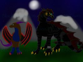 Art Remake: Two Friends Under the Same Sky by BlackDragon-Studios