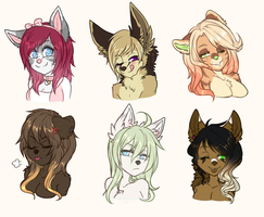 Feb. Headshots Commissions by heartXsurgery