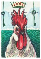 Crowing King ACEO by AshleighPopplewell