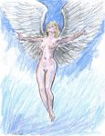 blonde Angel over clouds by mozer1a0x