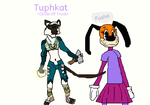 Tuphkat from Everquest and Fusha from ToonTown by Sarahdog2009