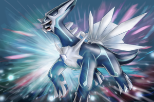 Dialga - Shining Forest art by nintendo-jr