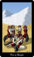 Vulpine Tarot - Five of Swords by Mabon-Tail