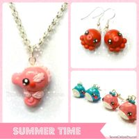 Kawaii summer - polymer clay accessories by TenereDelizie