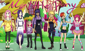 My Little Pony humanized by Hisui-tenshi