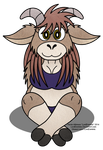 Cute Chubby Goat Girl by LordDominic
