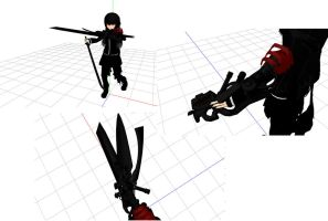 MMD BRS Great Black Sword Download by Nanashione