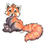 red panda by fuzzypinkmonster