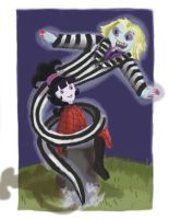 Lydia and Beetlejuice finished by Artlyss