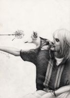 Kurt Cobain - unfinished yet by Lucky-Jacky