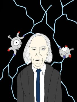 The Tall man with Magnemite by underwolf47