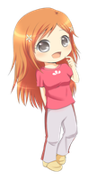 Bleach : Orihime Chibi by Pluvias