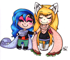 Geiko and Kelly by InvaderSonicMx