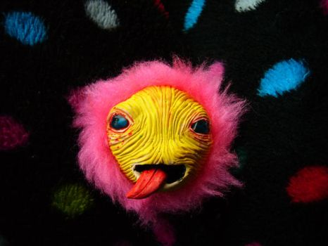 Pink and Yellow MAGNET MONSTER by eesss