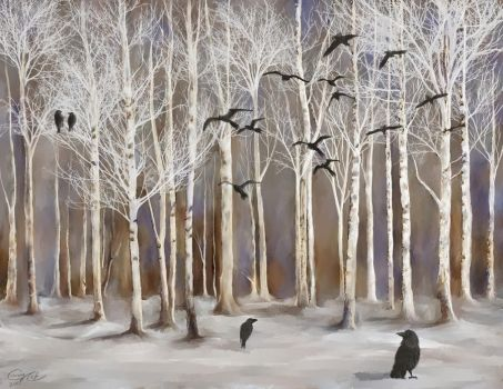 Aspen and Crows by Brightstone