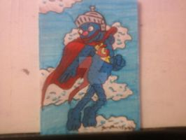 SUPER GROVER SKETCH CARD by shawncomicart