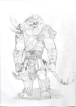 Rengar sketch by Stronglenhead