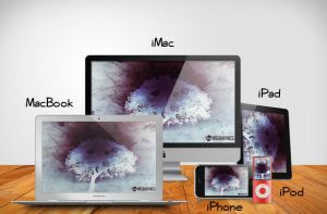 Apple products PSD templates by wegraphics