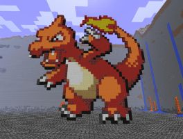 Minecraft Art: Charmeleon by 04porteb